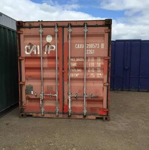Red Used 20ft Shipping Container