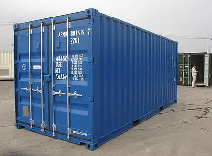 Shipping Container in RAL 5010 Colour